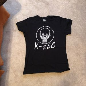 Star Wars k-2so black t shirt